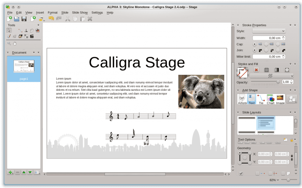 Calligra_Stage