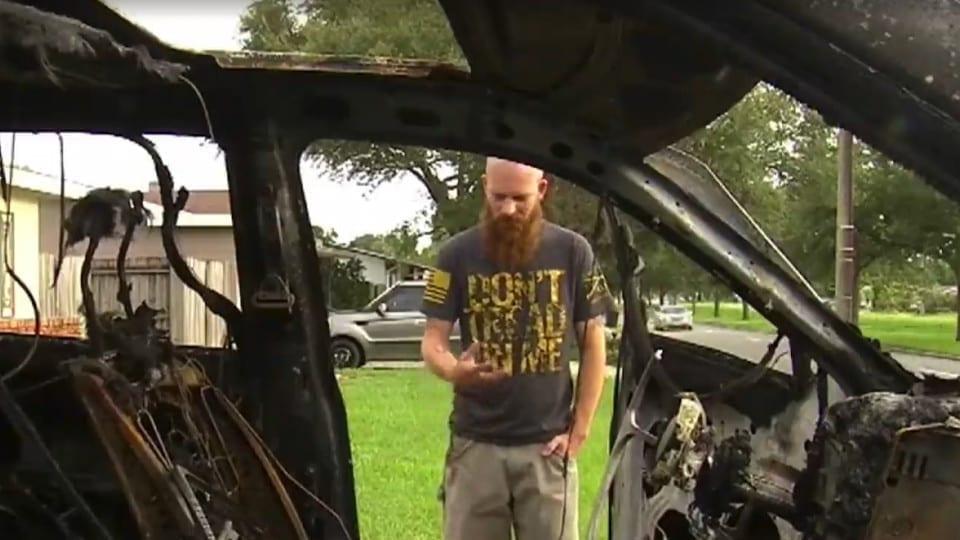 Натан Дорначер, владелец Samsung Galaxy Note 7, у которого сгорел автомобиль из-за взрыва смартфона